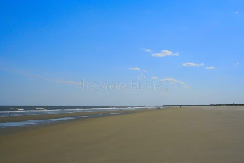 szeroki na plaży widok obrazy royalty free