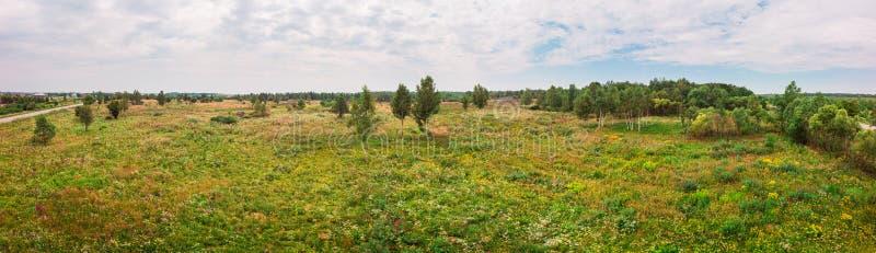 Szeroki panoramiczny krajobraz natura Wie?, Ukraina fotografia royalty free