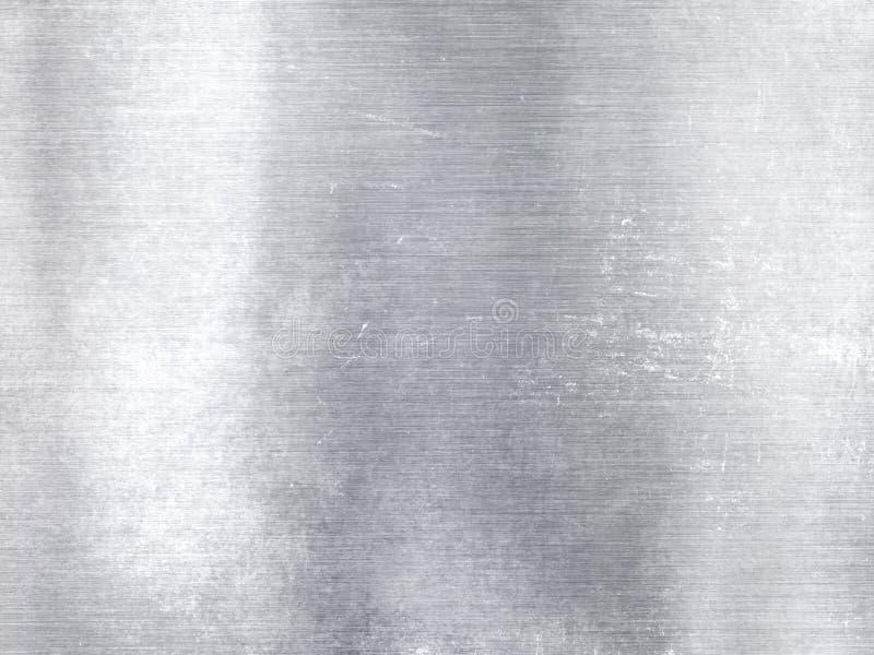 Szeroki srebny kruszcowy aluminiowy przemysłowy textured tło zdjęcia stock
