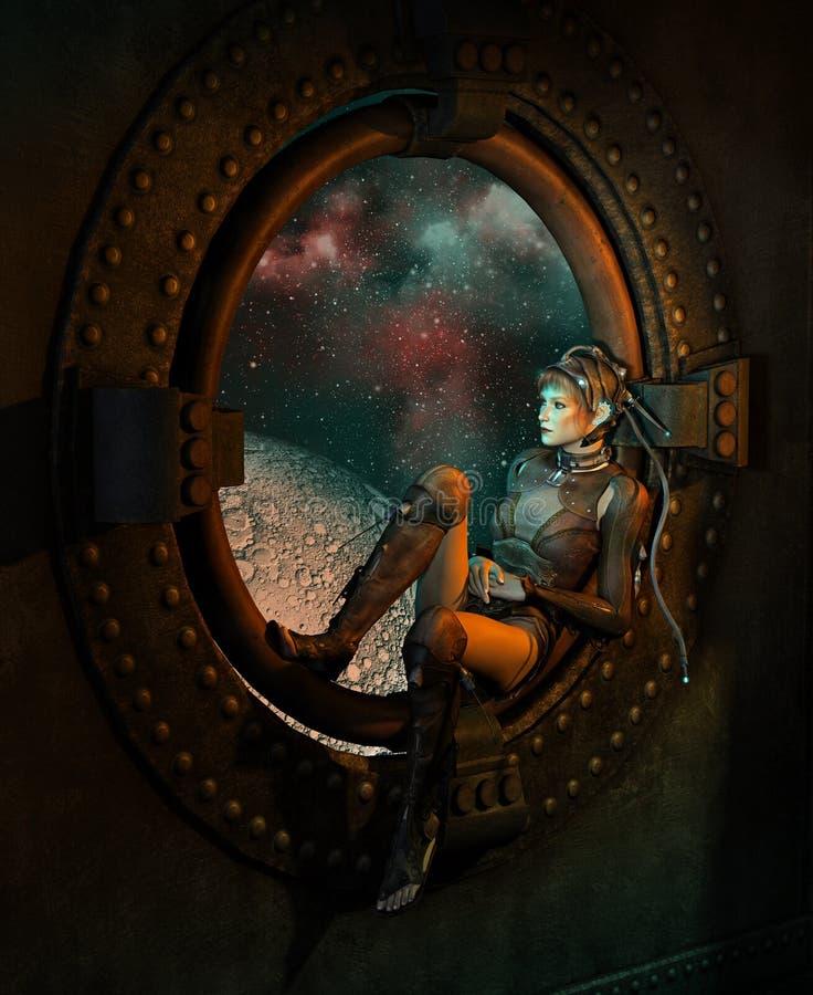 Szeroki widok, 3d CG ilustracji