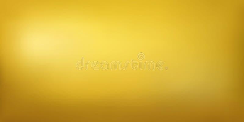 Szeroki złoty metal tekstury tło ilustracja wektor