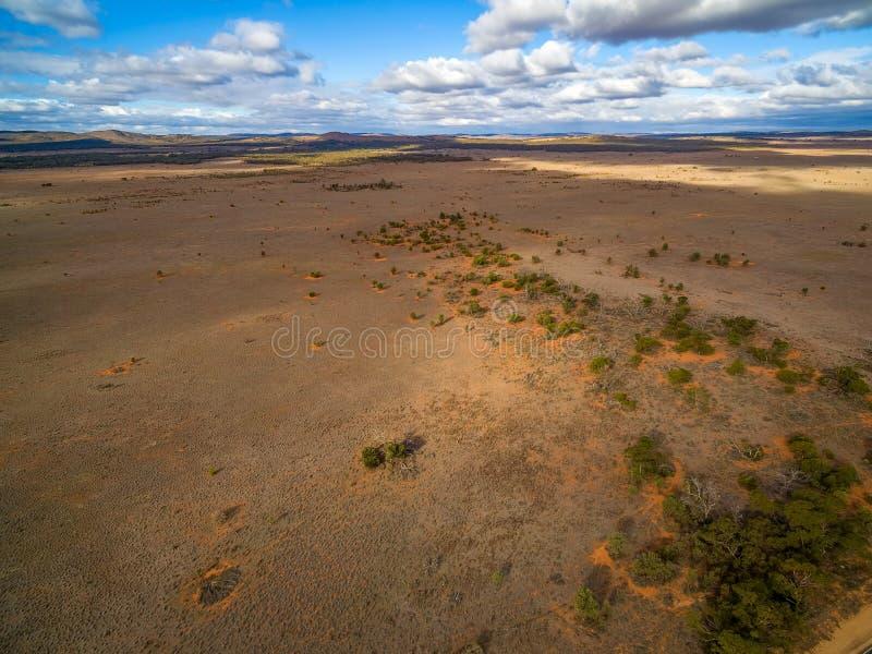 Szerokie pustynne równiny Południowy Australia obraz royalty free