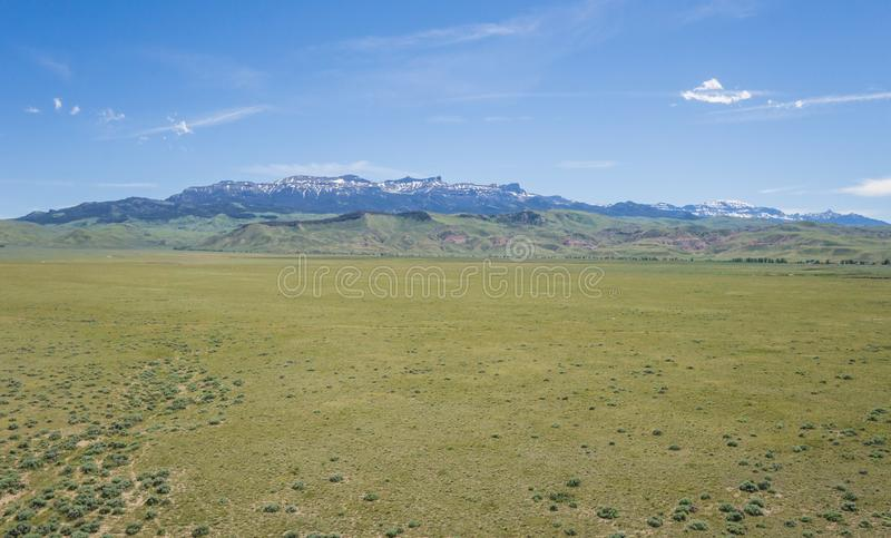 Szerokie Wielkie równiny i Skaliste góry fotografia stock