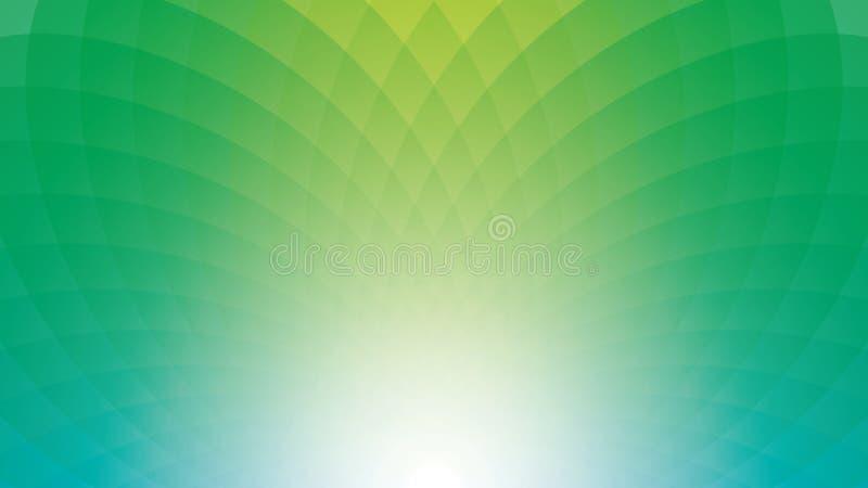 Szerokiego ekranu webpage lub biznes prezentaci greenery abstrakcjonistyczny b ilustracji