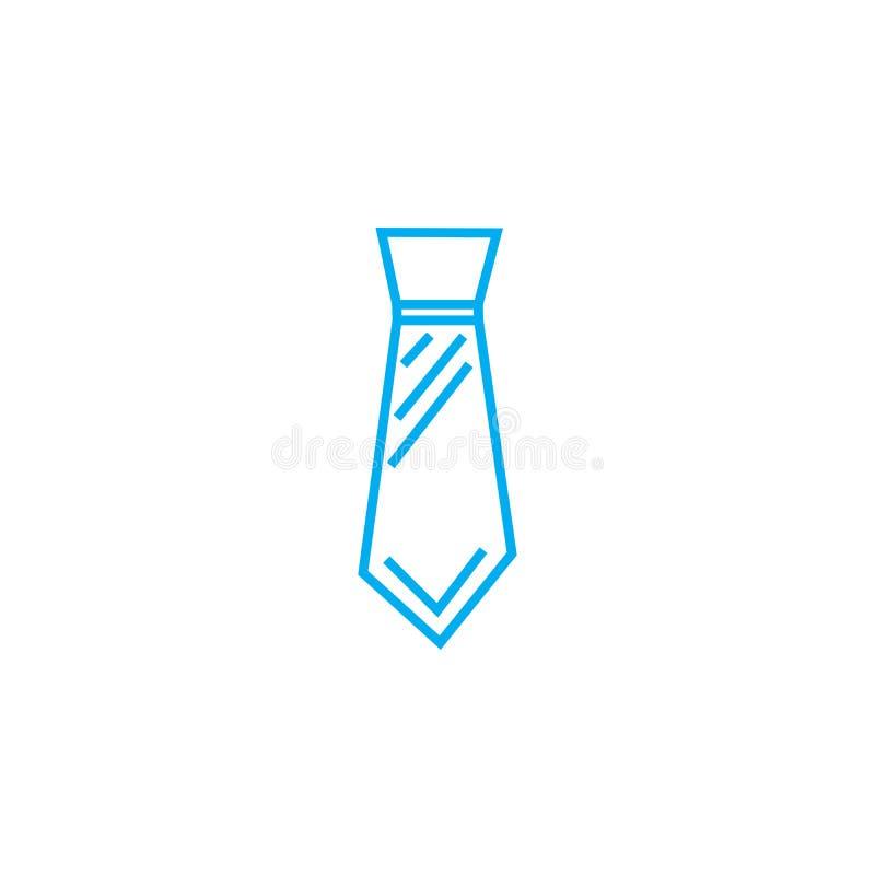 Szerokiego krawata wektoru uderzenia cienka kreskowa ikona Szeroka krawata konturu ilustracja, liniowy znak, symbolu pojęcie royalty ilustracja