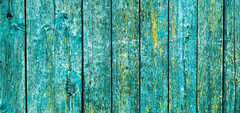 Szerokiej kąta rocznika zieleni Nieociosany Drewniany tło obraz royalty free