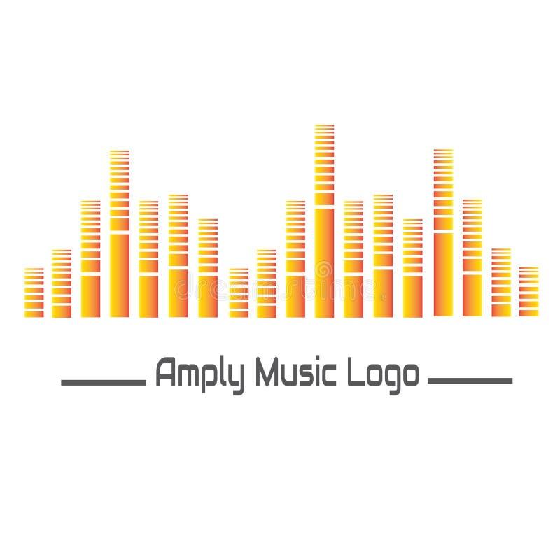 Szeroko Muzyczny logo dla twój biznesowej muzyki, instrumentalia lub śpiewa ilustracji