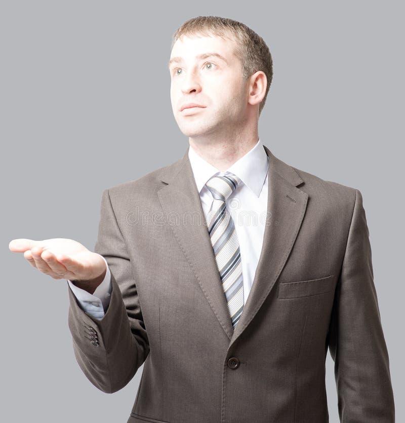 Download Szeroko Rozpościerać Biznesmen Ręka Zdjęcie Stock - Obraz złożonej z biznesmen, dojeżdżający: 65225768