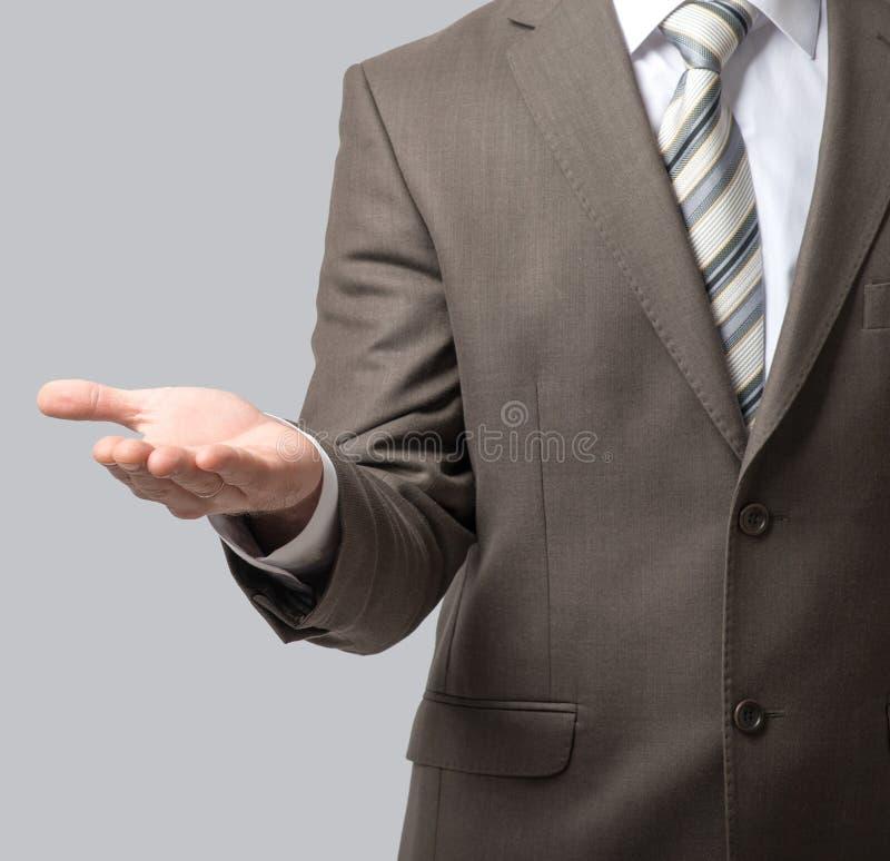 Download Szeroko Rozpościerać Biznesmen Ręka Obraz Stock - Obraz złożonej z dorosły, zaufanie: 65225827