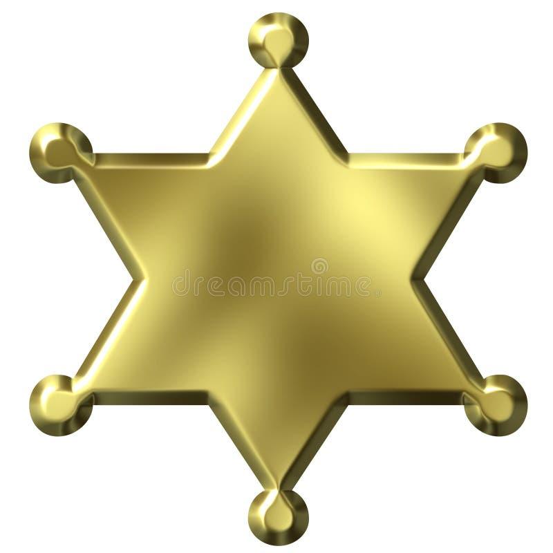 szeryf odznaki royalty ilustracja