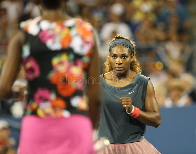 Szesnaście czasów wielkiego szlema mistrz Serena Williams  obraz royalty free