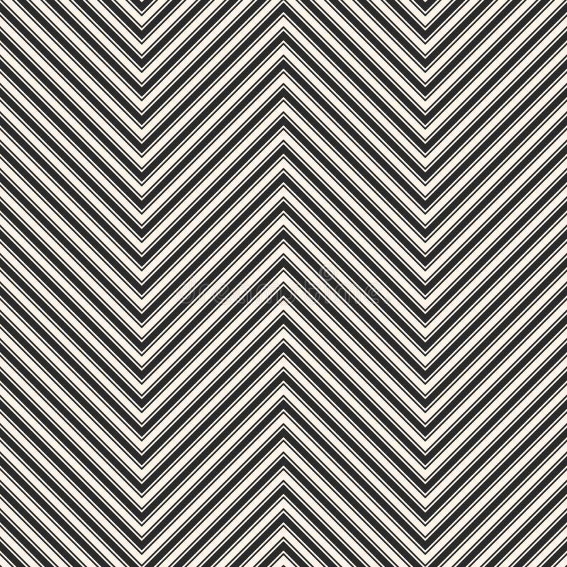 Szewron paskuje bezszwowego wzór Wektor Zygzakowata tekstura royalty ilustracja