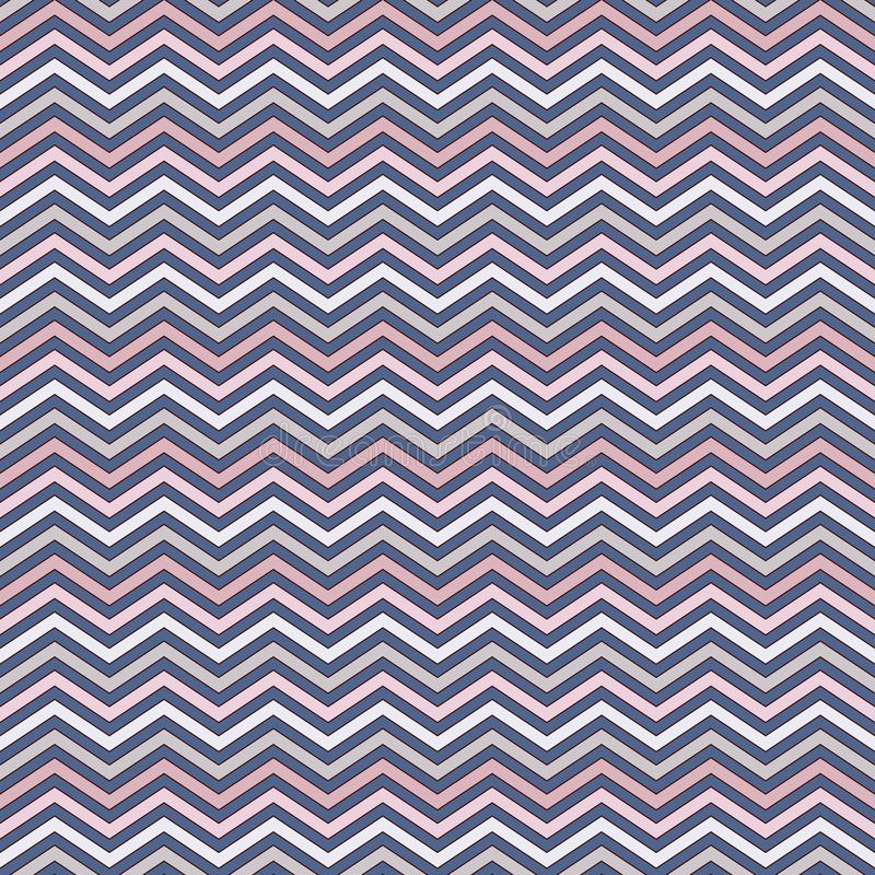 Szewron paskuje tło Bezszwowy wzór z klasycznym geometrycznym ornamentem Zygzakowate horyzontalne linie tapetowe ilustracja wektor
