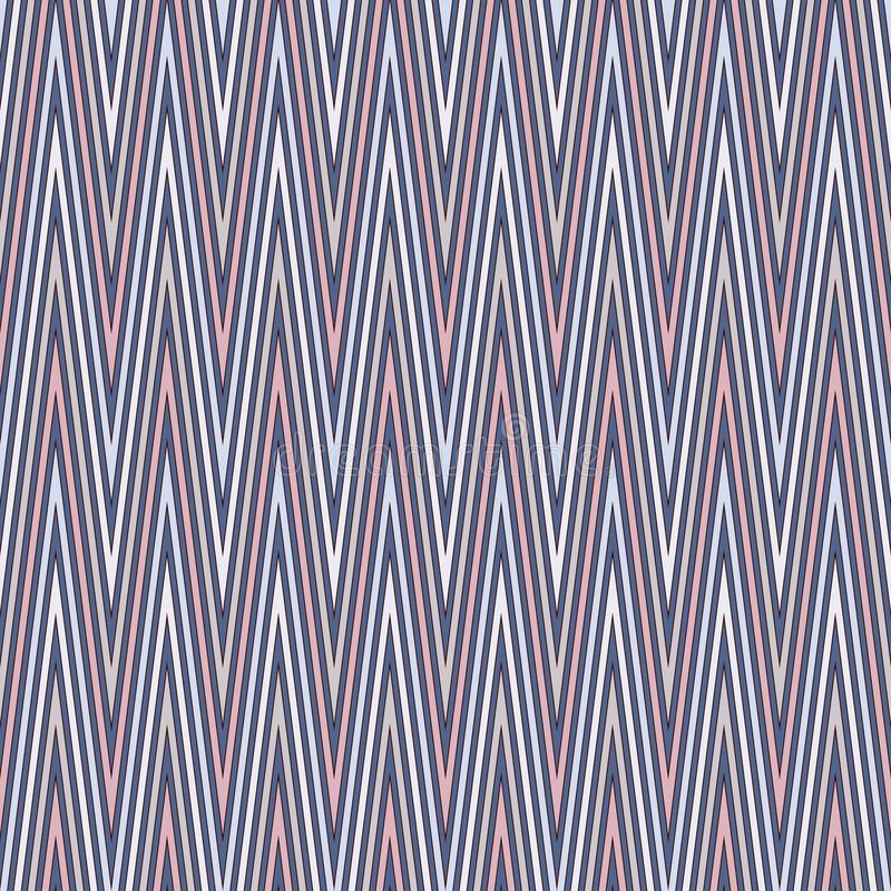 Szewron paskuje tło Bezszwowy wzór z klasycznym geometrycznym ornamentem Zygzakowate horyzontalne linie tapetowe royalty ilustracja