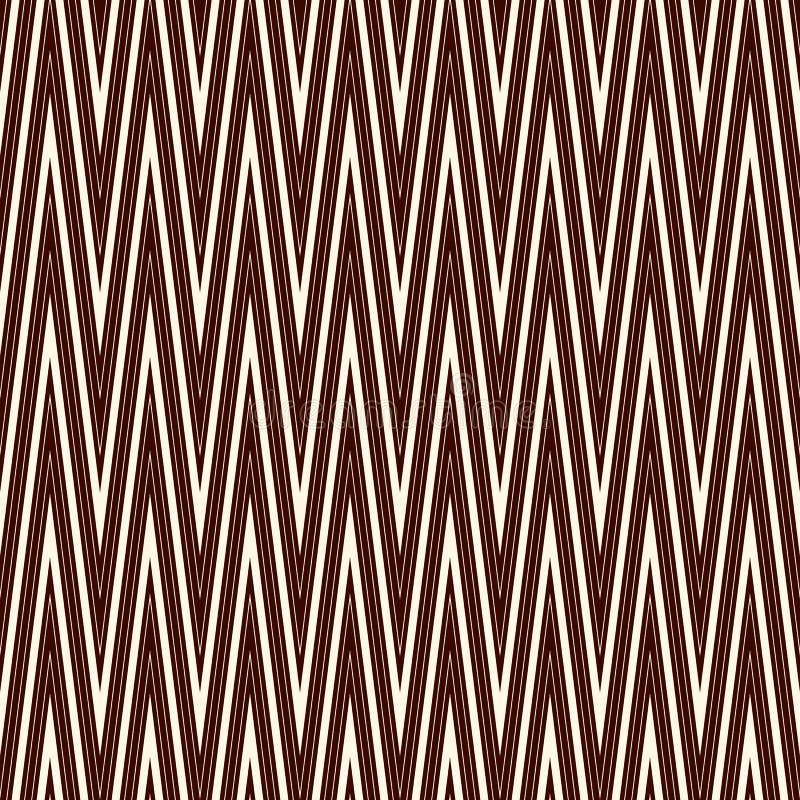 Szewron przekątna paskuje bezszwowego wzór z klasycznym geometrycznym ornamentem Konturu zygzag wykłada tapetę ilustracja wektor