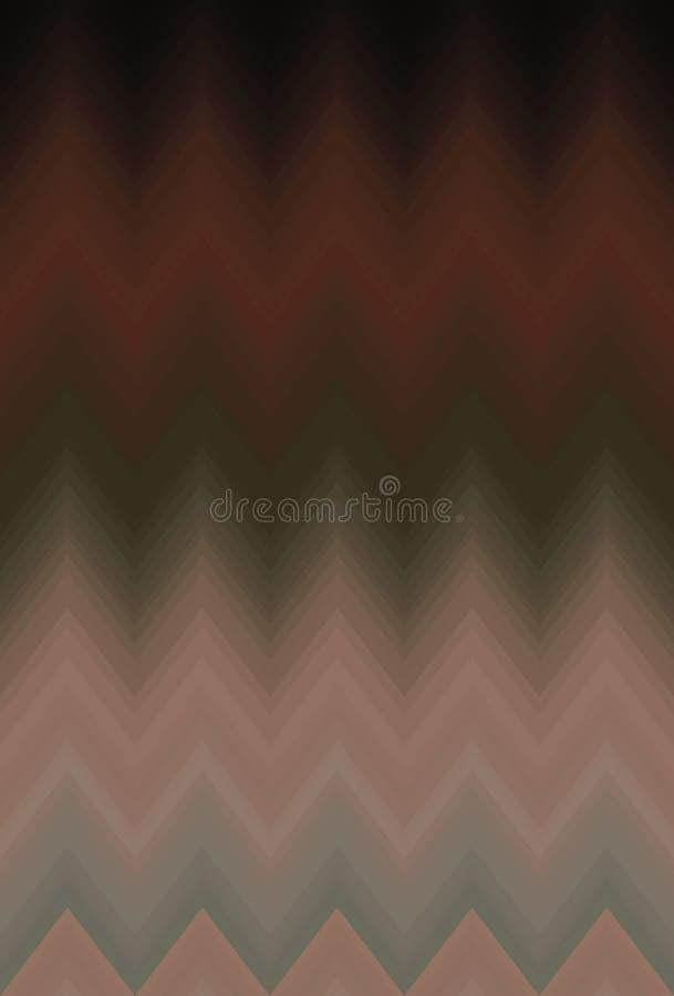 Szewronu gradientu gładka plama, zygzakowatego wzoru abstrakcjonistycznej sztuki tło wykazywać tendencję ilustracja wektor