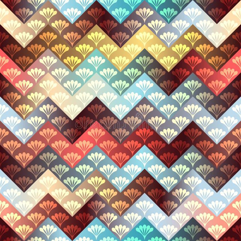 Szewronu wzór z dekoracyjnym ornamentem ilustracji