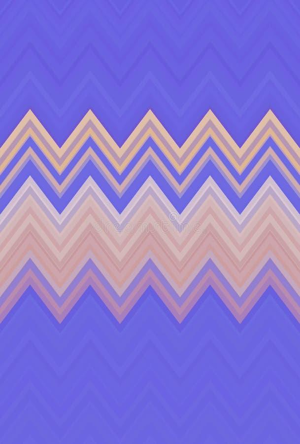 Szewronu zygzakowatego wzoru t?a purpury abstrakt ilustracji