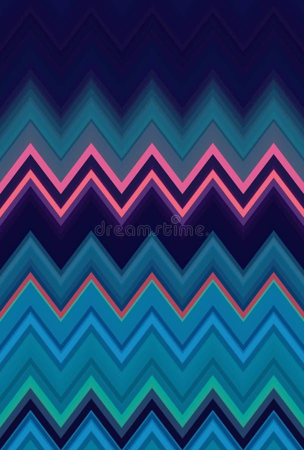 Szewronu zygzakowatego wzoru t?a purpury Geometryczna ilustracja ilustracja wektor