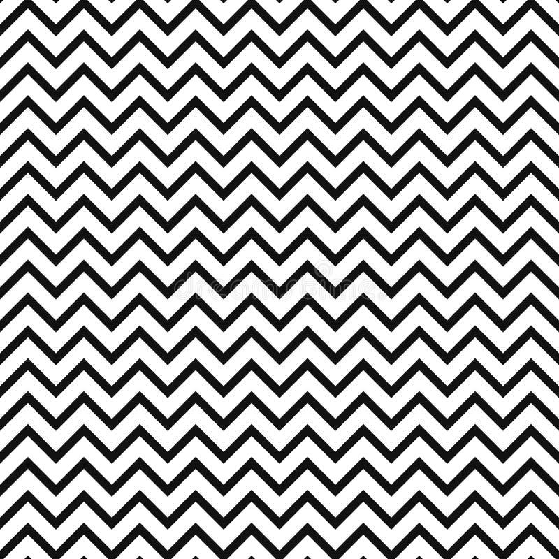 Szewronu zygzakowaty czarny i biały bezszwowy wzór ilustracja wektor