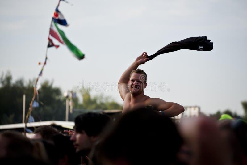 Sziget lata festiwal muzyki Budapest Węgry zdjęcia royalty free