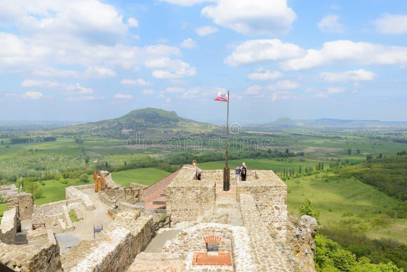 Szigligetkasteel Veszpremgebied hongarije stock afbeeldingen