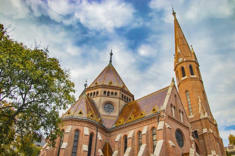 Szilagyi Dezso ter Reformed Church a Budapest una del tempio principale in Ungheria immagini stock libere da diritti