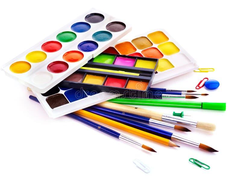 szkół artystycznych dostawy fotografia stock