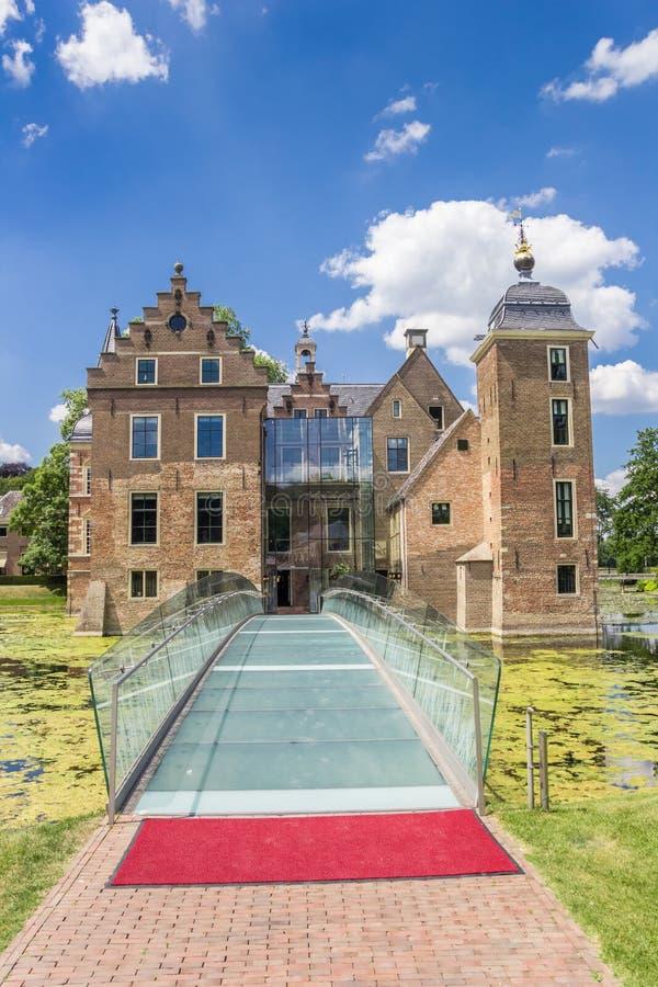 Szkła bridżowy prowadzić Ruurlo kasztel obrazy royalty free