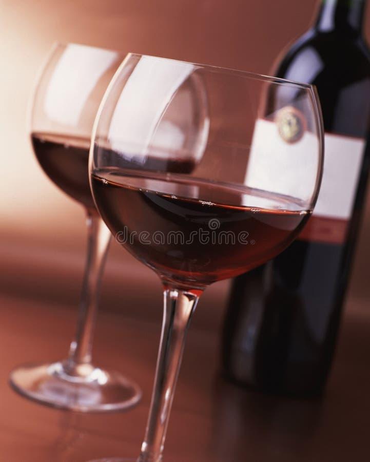 szkła czerwone wino zdjęcie royalty free