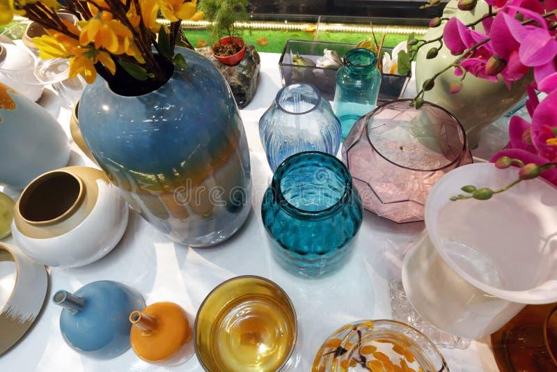 Szkła i ceramics wazy zdjęcie royalty free
