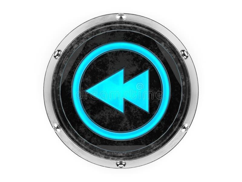 Szkła i metalu okręgu rewind symbol zdjęcia royalty free