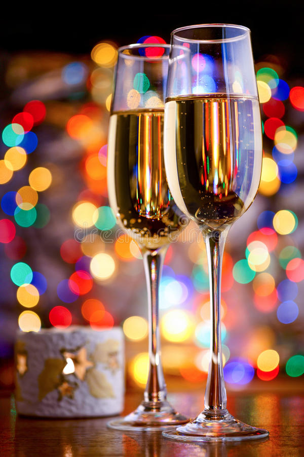 Szkła iskrzasty wino fotografia stock