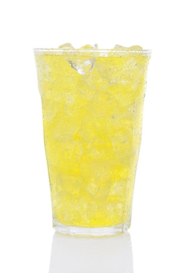 szkła lodowa cytryny wapna soda obraz stock