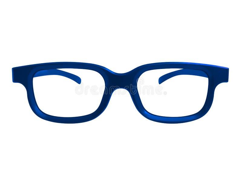 Szkła odizolowywający - błękit ilustracja wektor