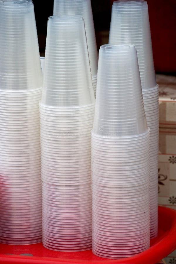 szkła plastikowi zdjęcie stock