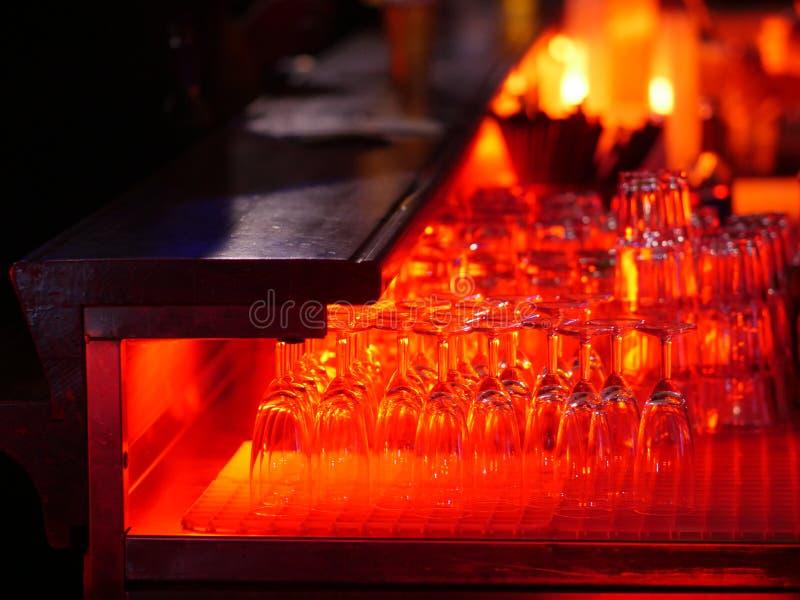 Szkła pomarańczowy światło zdjęcie royalty free