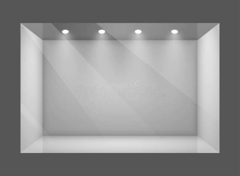 Szkła przedstawienia pusty okno sklep royalty ilustracja