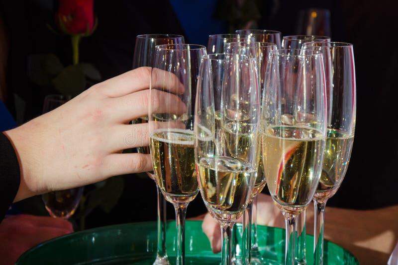 Szkła szampan zdjęcie royalty free