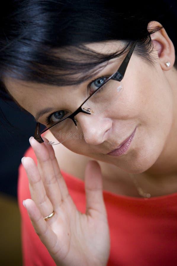 szkła target1124_0_ kobiety zdjęcia stock