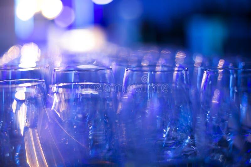 szkła ustawiający wino obraz royalty free