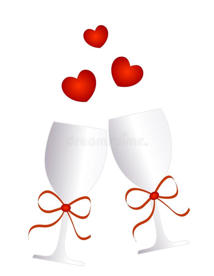szkła wino ilustracji