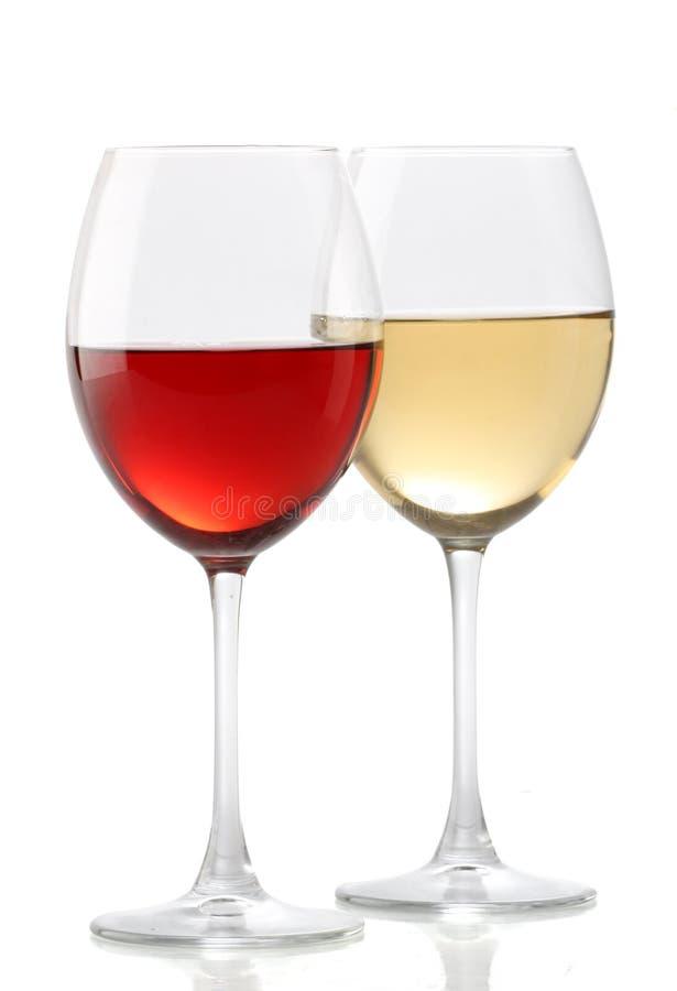 szkła wino dwa zdjęcie royalty free