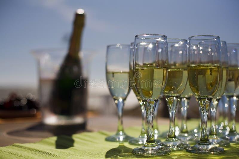 Szkła z szampanem zdjęcia stock