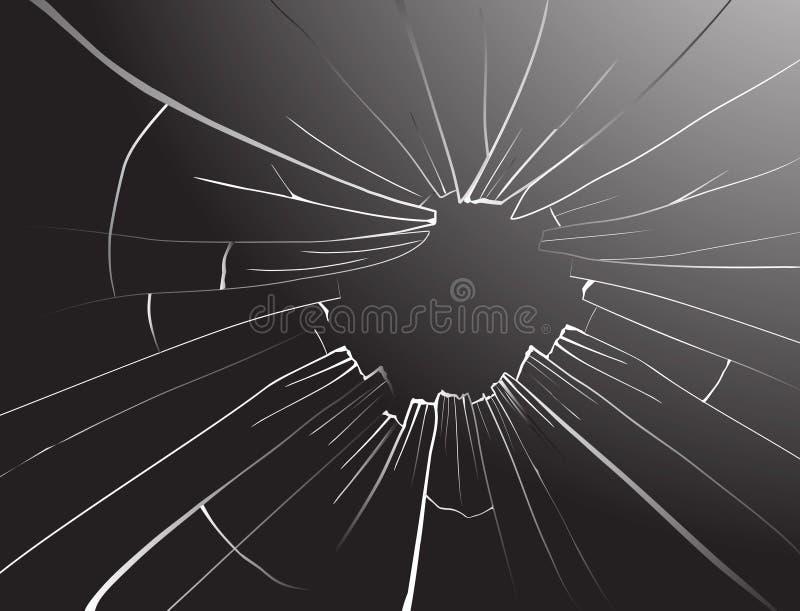szkło łamany wektor ilustracja wektor