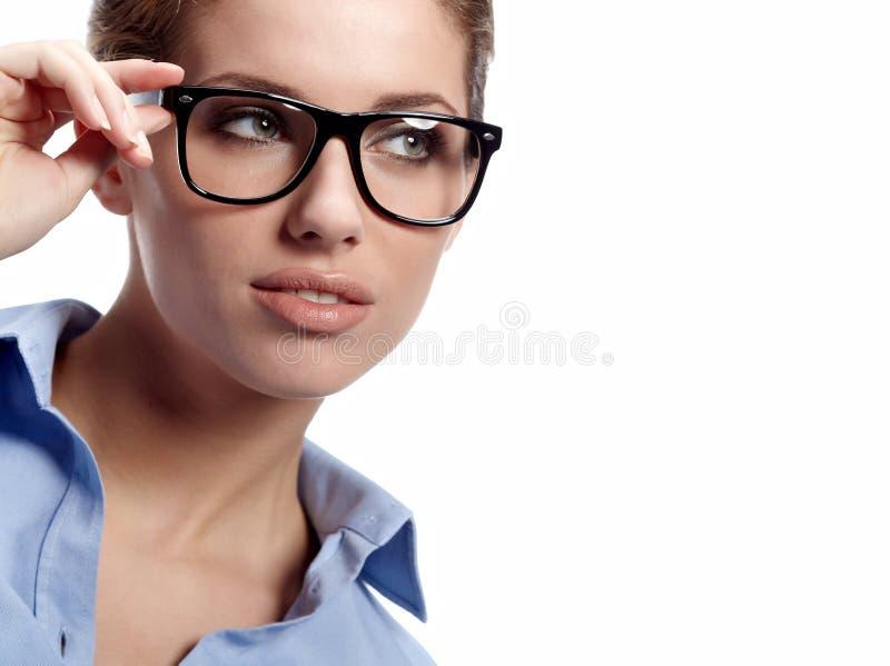 szkło biznesowa kobieta obraz stock