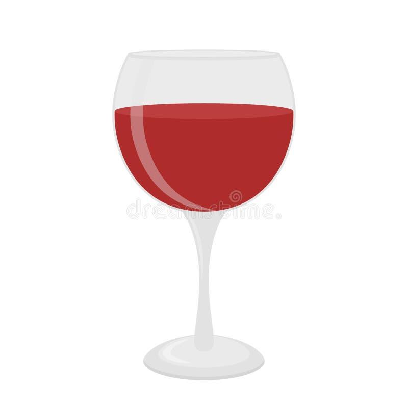 Szkło dla wina, merlot, Cabernet, sangria Koktajlu glassware Mieszkanie styl royalty ilustracja
