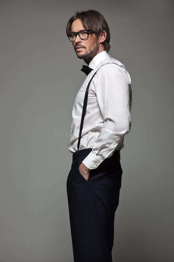 szkło elegancki mężczyzna fotografia stock