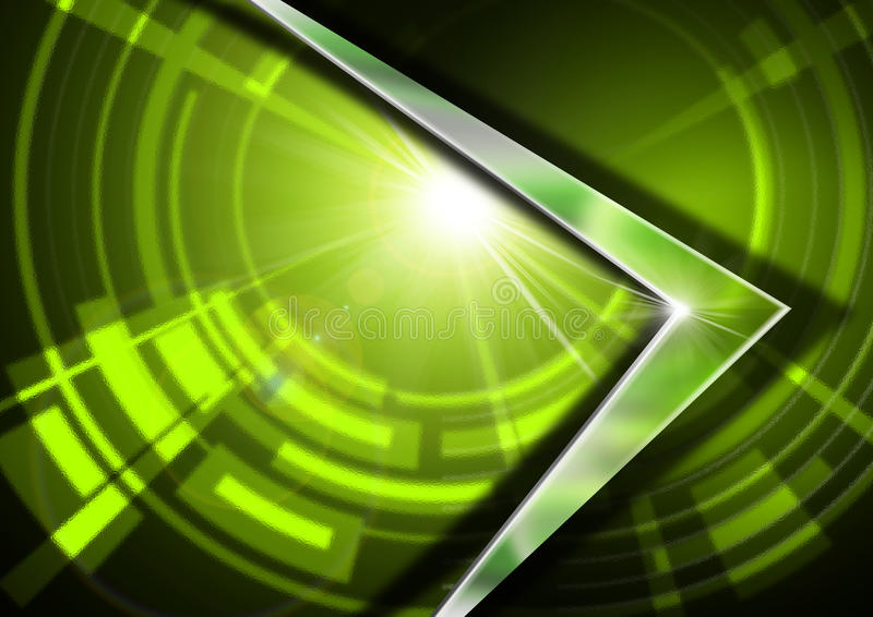 Szkło i metal - Zielony Abstrakcjonistyczny tło ilustracja wektor