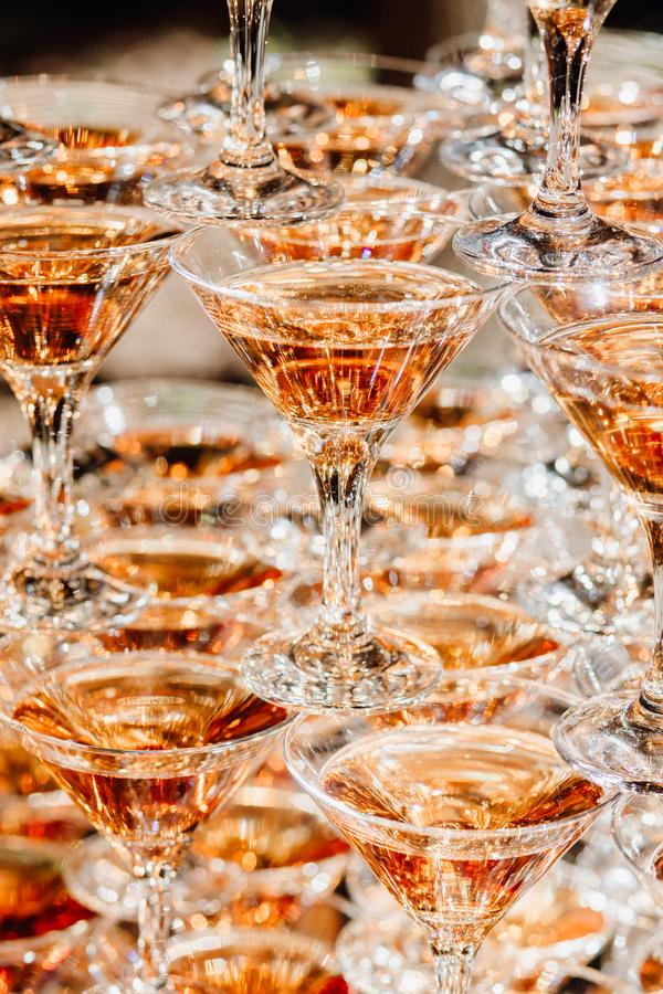 Szkło koktajlu i bankieta catering przyjęcia wydarzenie zdjęcie royalty free